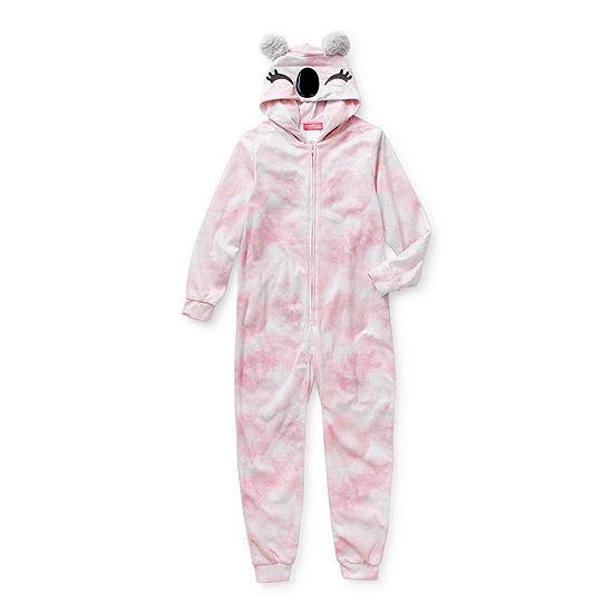 Little & Big Girls Fleece Long Sleeve One Piece Pajama