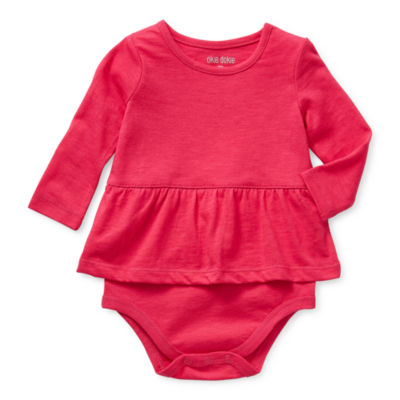 Okie Dokie Long Sleeve Baby Girls Bodysuit