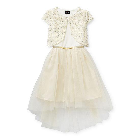 Lilt Little & Big Girls Short & Cap Sleeve Party Dress