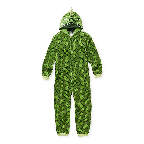 Little & Big Boys Fleece Long Sleeve One Piece Pajama