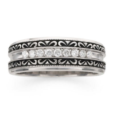 Mens 1/4 CT. T.W. Genuine Multi Color Diamond Cocktail Ring