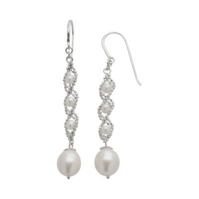 Sterling Silver Fresh Water Pearl Lace Earrings