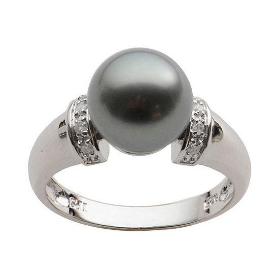 Black Tahitian Pearl & Diamond-Accent Ring