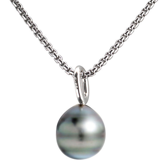 Black Tahitian Pearl Drop Pendant Necklace