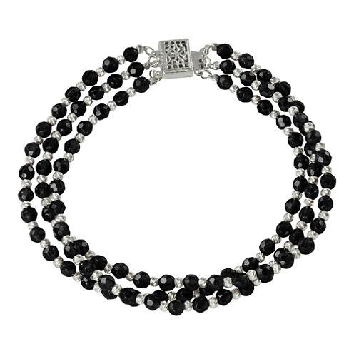 Onyx & Sparkle Bead 3-Strand Bracelet