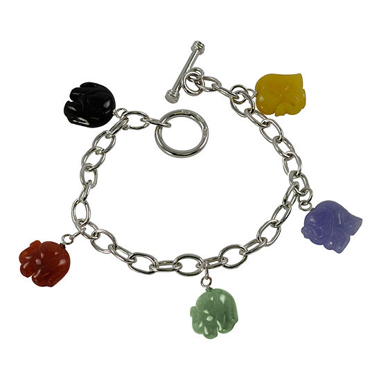 Multicolor Jade Elephant Bracelet