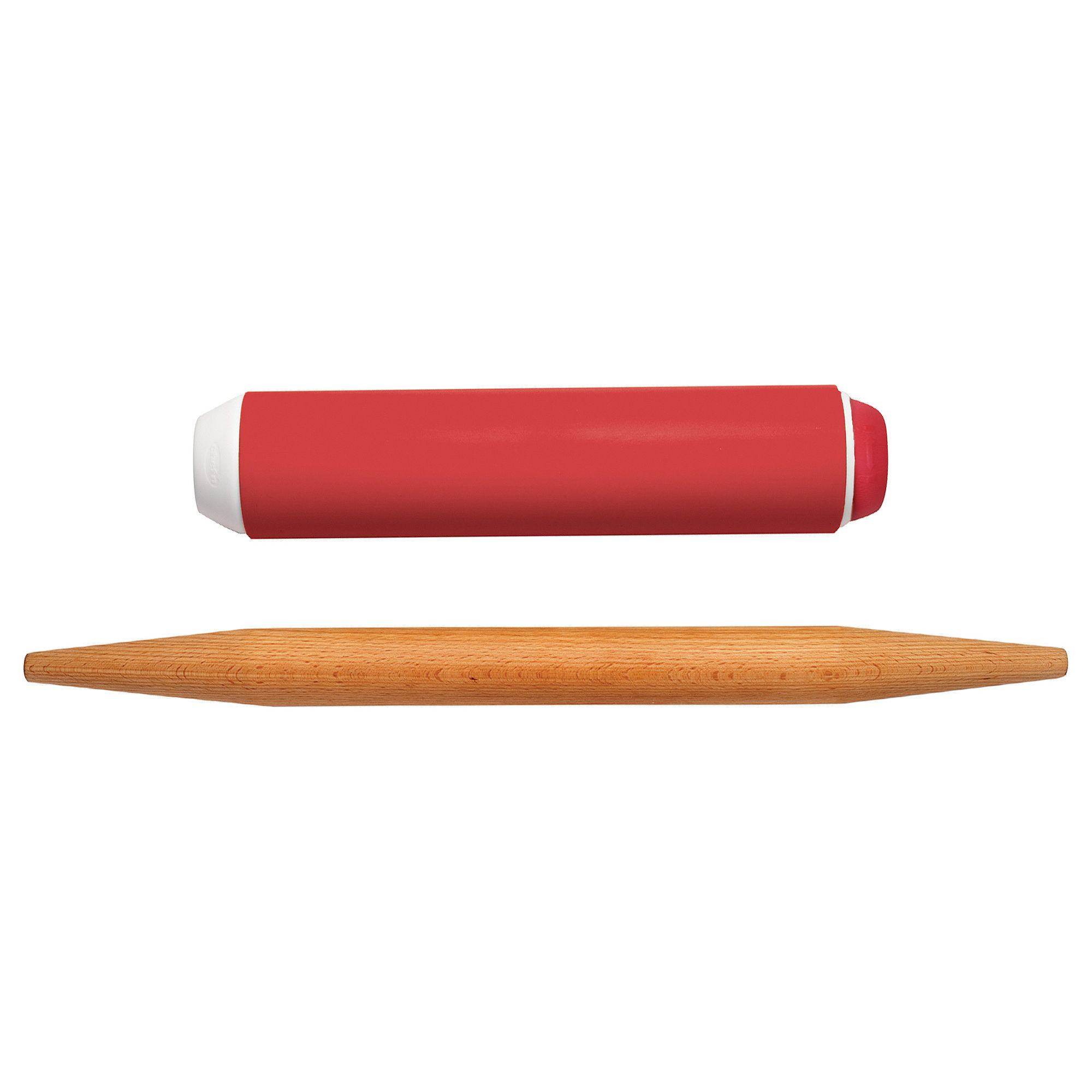 "Chef'n PinPair"" Silicone and French Rolling Pin Set"