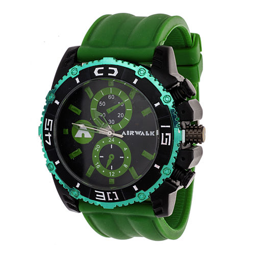 AIRWALK® Mens Green and Black Watch