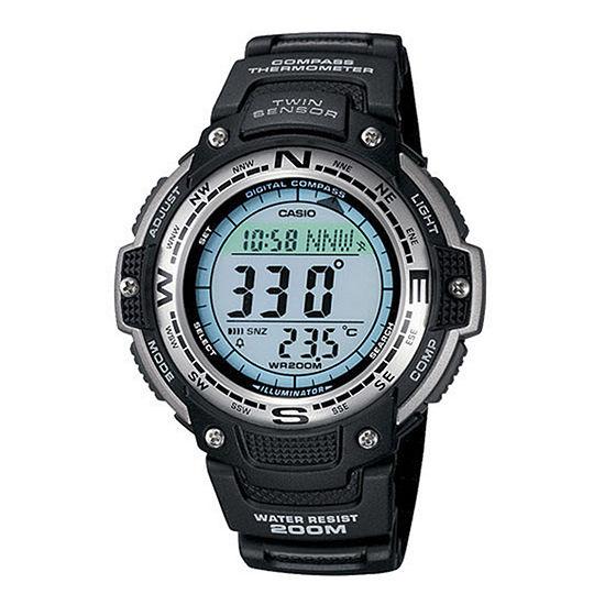 Casio Mens Digital Black Strap Watch-Sgw100-1v