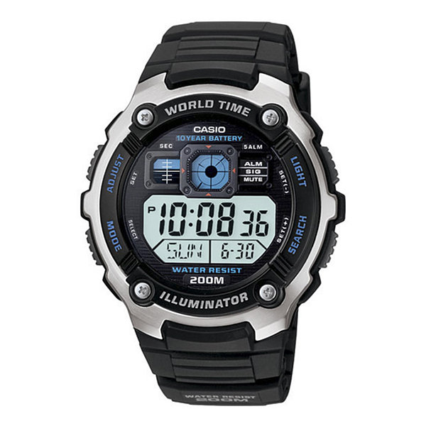 Casio® Mens Black Resin Strap Solar Sport Watch AE2000W-1AV