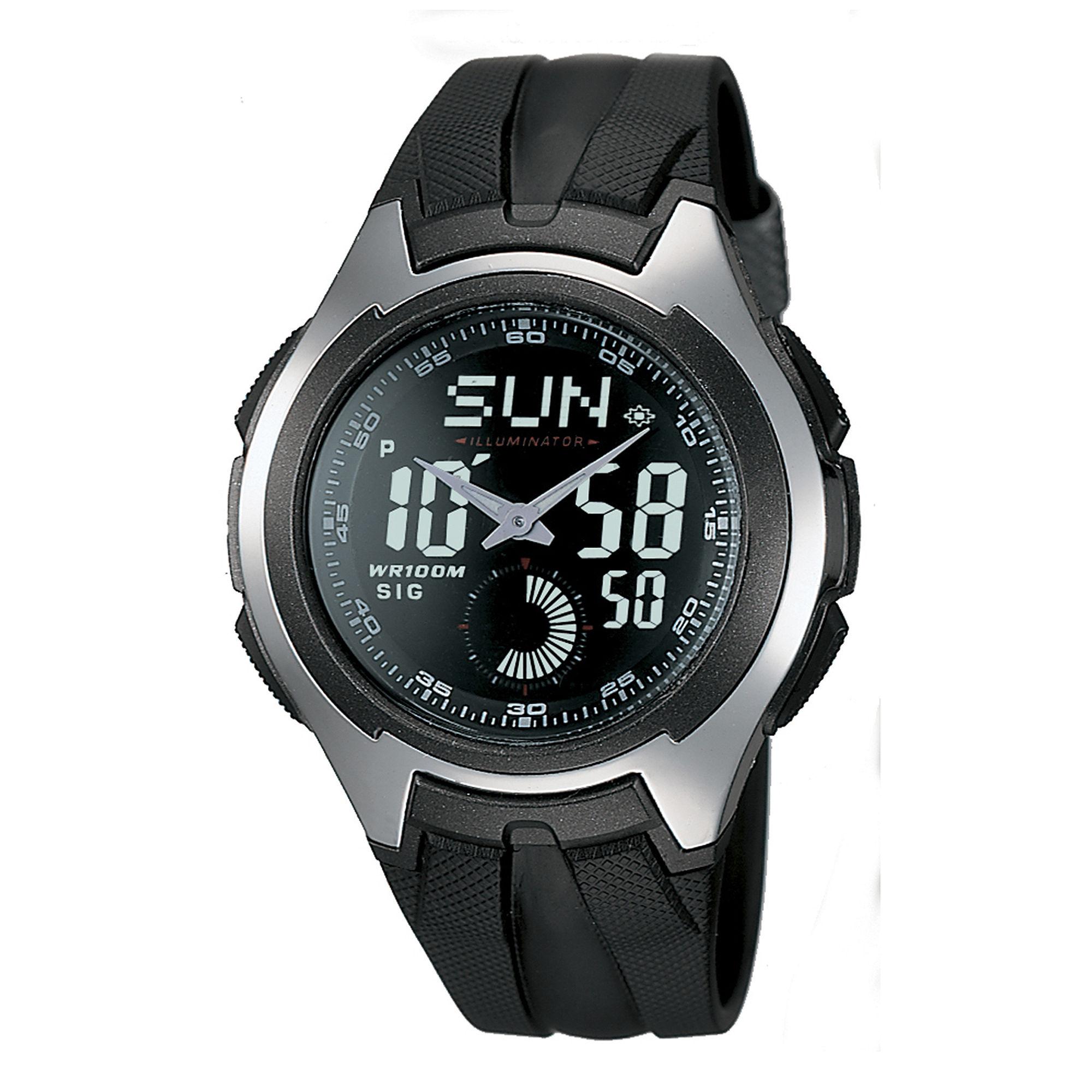 Casio Mens Black Resin Strap Analog/Digital Watch AQ160W-1BV