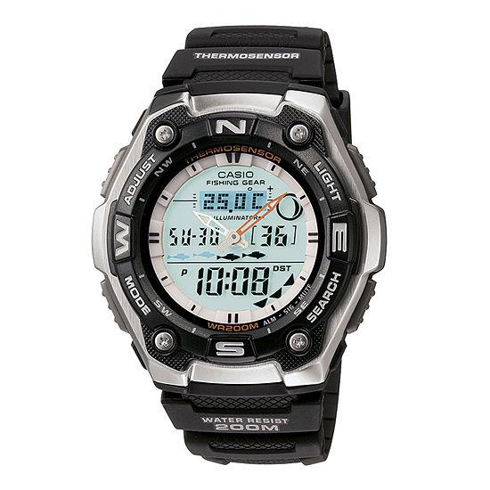 Casio Mens Multi-Function Black Strap Watch-Aqw101-1acf