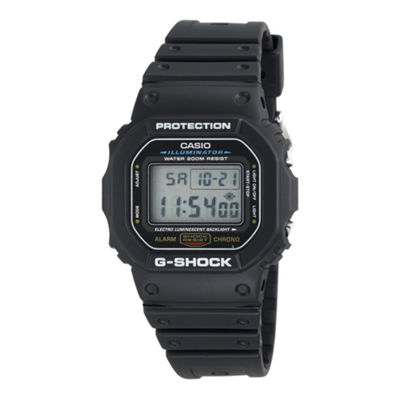 Casio® G-Shock Mens Black Resin Strap Sport Watch DW5600E-1V