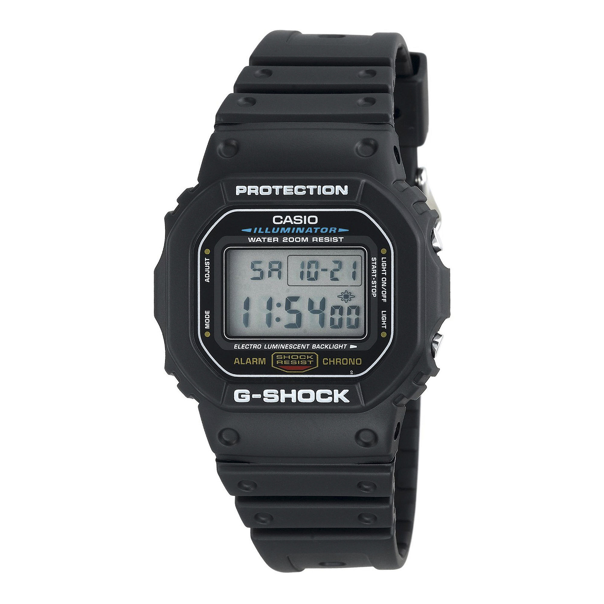 Casio G-Shock Mens Black Resin Strap Sport Watch DW5600E-1V