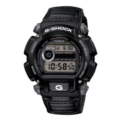 Casio® G-Shock Mens Black Nylon Strap Sport Watch DW9052V-1