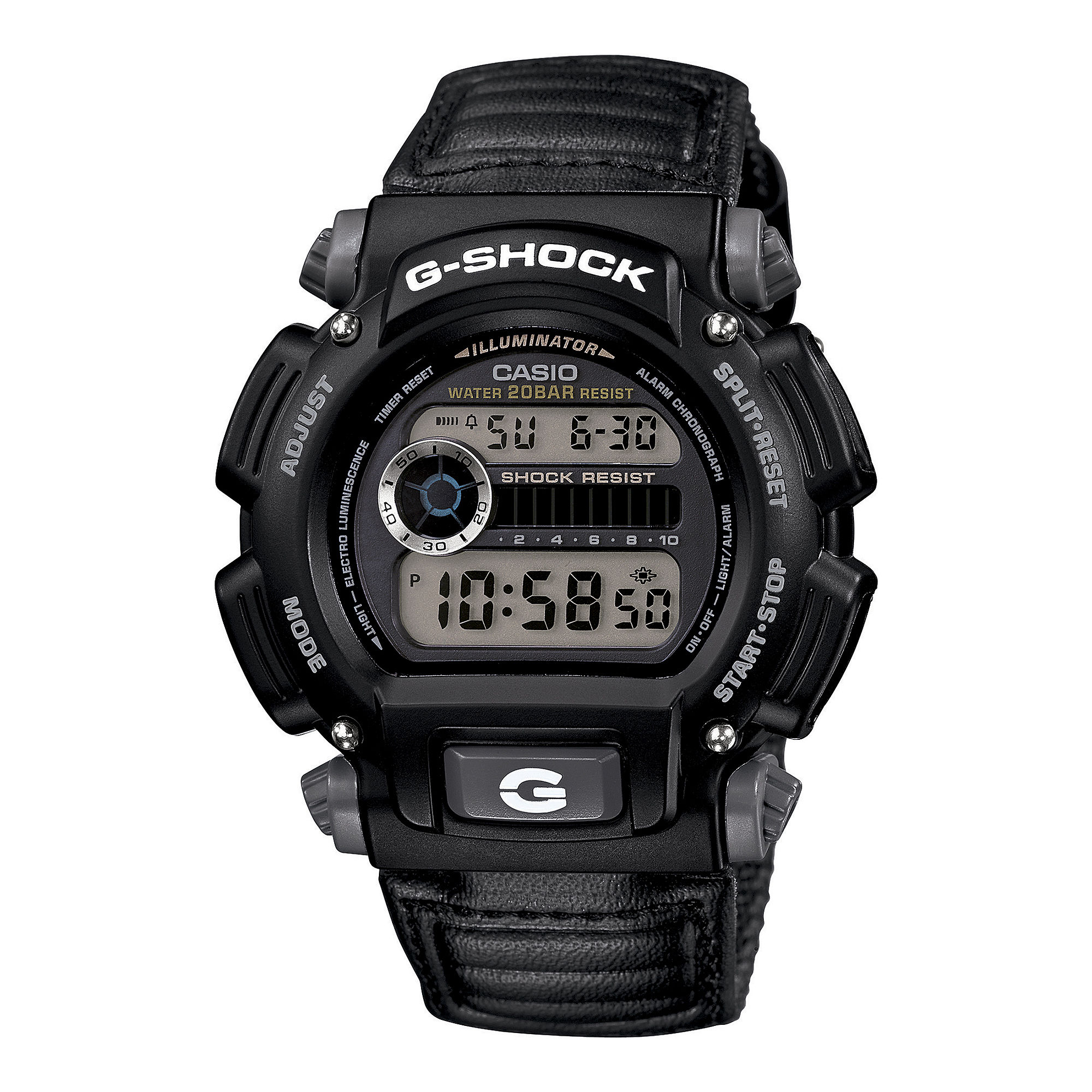 Casio G-Shock Mens Black Nylon Strap Sport Watch DW9052V-1