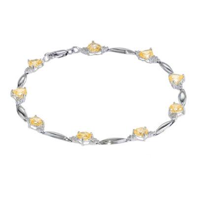 Fine Jewelry Genuine Citrine and Diamond-Accent Sterling Silver Bracelet tAzJlPCPw