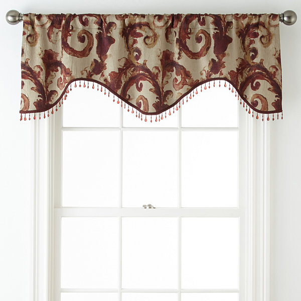 Home Expressions™ Tuscany Scroll Rod-Pocket Scalloped Valance