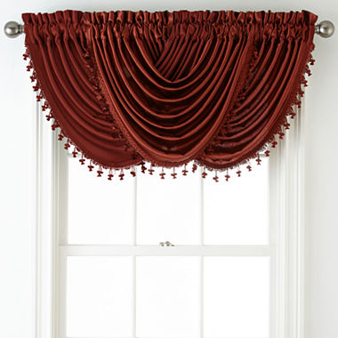 Royal Velvet Hilton Rod Pocket Waterfall Valance