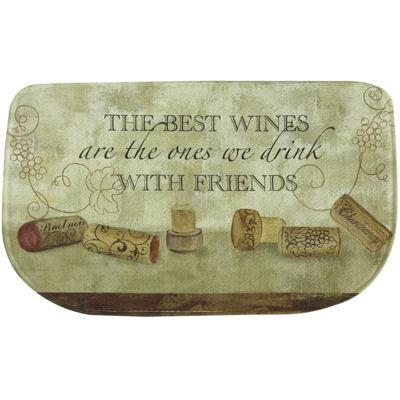 Bacova Wine with Friends Memory Foam Rug