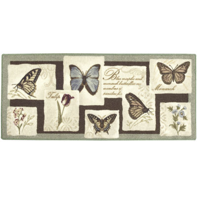 Butterfly Collage Rectangular Rug