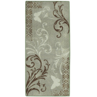 Butterfly Scroll Rectangular Rug