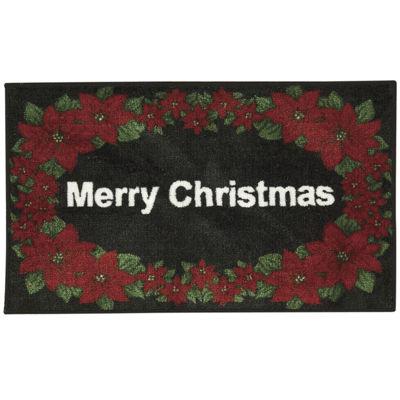 Nourison® White Merry Christmas Rectangular Rug
