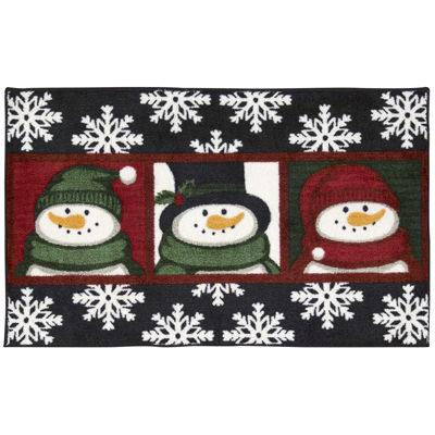 Nourison® Three Snowmen Rectangular Rug