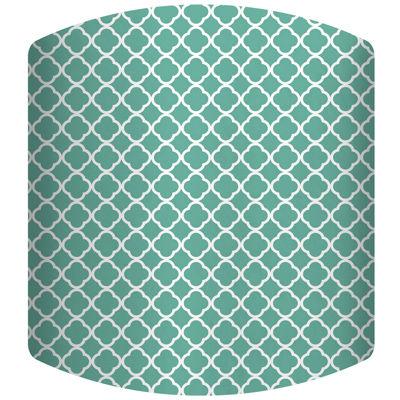 Teal Pattern Drum Lamp Shade