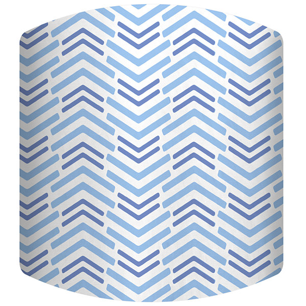 Blue Lines Short Drum Lamp Shade