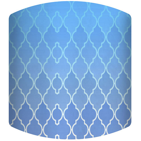 Blue Gradient Pattern Drum Lamp Shade