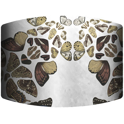 Butterfly Cascade Drum Lamp Shade