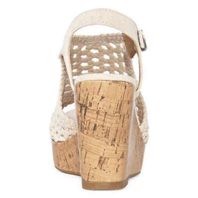 Pop Womens Evie Wedge Sandals
