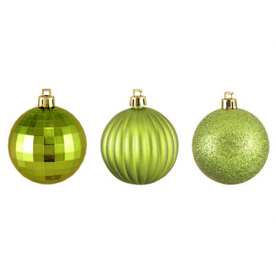"100CT 3-Finish Shatterproof Christmas Ball Ornaments 2.5"" (60mm)"""