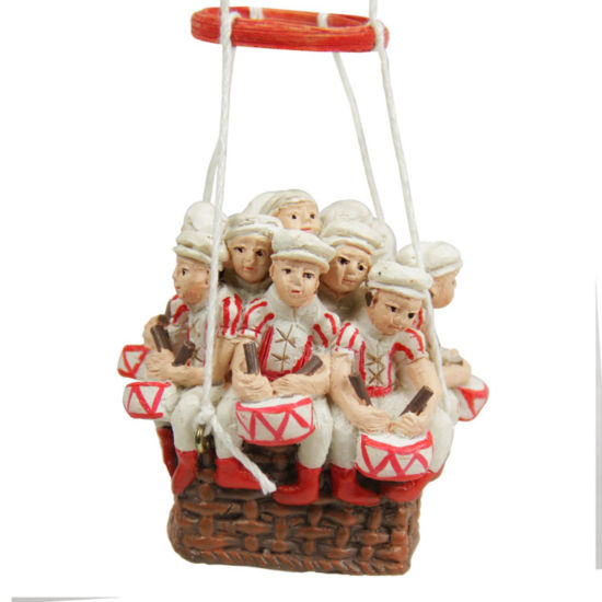 "11"" Red and White Hot Air Balloon Twelve Days of Christmas Ornament"""