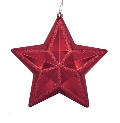 "12"" Shiny Burgundy Commercial Size Shatterproof Star Christmas Ornament"""
