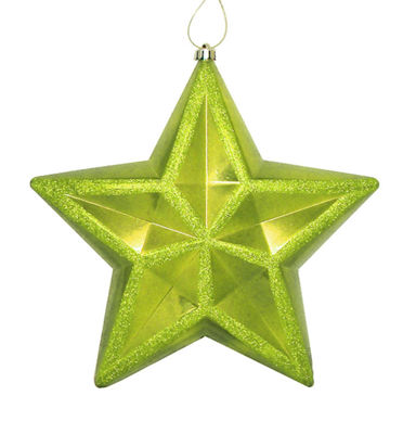 "12"" Shiny Green Kiwi Commercial Size ShatterproofStar Christmas Ornament"""