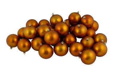 "12ct Matte Burnt Orange Shatterproof Christmas Ball Ornaments 4"" (100mm)"""