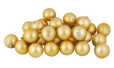 "12 CT Matte Vegas Gold Shatterproof Christmas Ball Ornaments 4"" (100mm)"