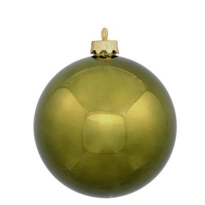 "12ct Shiny Olive Green Shatterproof Christmas BallOrnaments 4"" (100mm)"""