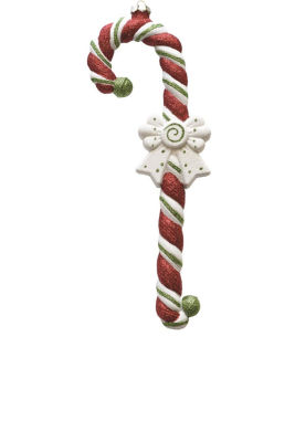 """15"""" Merry & Bright Large Red  White and Green Glittered Shatterproof Candy Cane Christmas Ornament"""""""