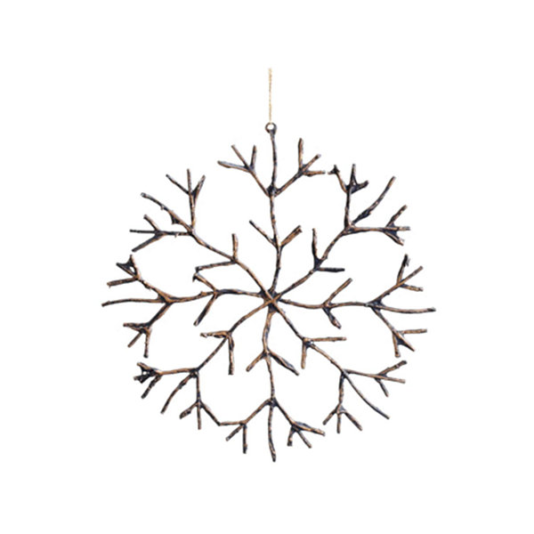 "16"" In The Birches Glitter Twig Snowflake Christmas Ornament"""