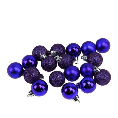 "18ct Indigo Blue Shatterproof 4-Finish Christmas Ball Ornaments 1.25"" (30mm)"""