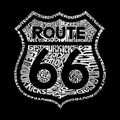 Los Angeles Pop Art Get Your Kicks On Route 66 Tote