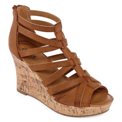 a.n.a Womens Maxwell Wedge Sandals