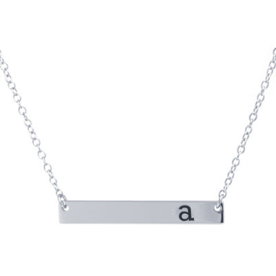 Silver Treasures Letter A Womens Pendant Necklace