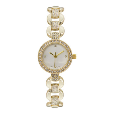 Geneva Platinum Womens Gold Tone Bracelet Watch-15177
