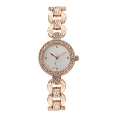 Geneva Platinum Womens Rose Goldtone Bracelet Watch-15177