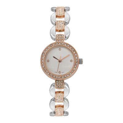 Geneva Platinum Womens Two Tone Bracelet Watch-15177