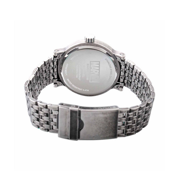 Spiderman Mens Silver Tone Strap Watch-Wma000218
